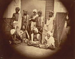 Group of fakirs or religious mendicants, Eastern Bengal.
